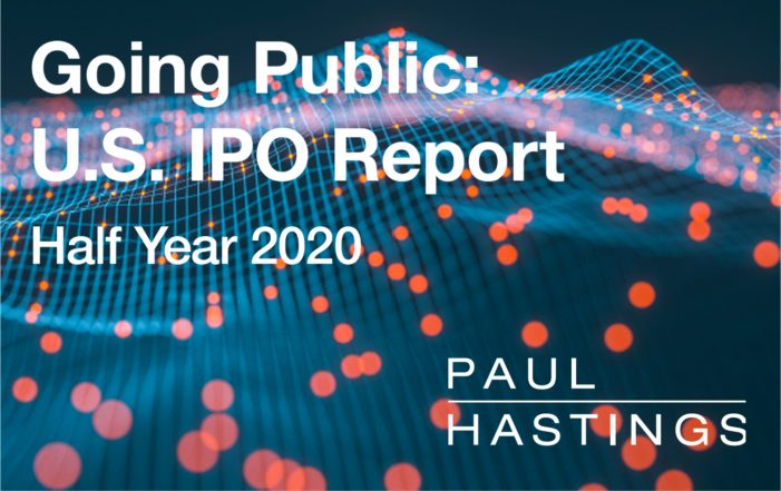 Paul Hastings Sees Active IPO Market